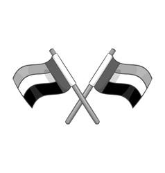 UAE flag icon black monochrome style vector image vector image