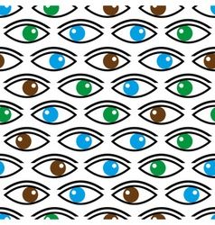 Various color eyes looking at you seamless pattern vector
