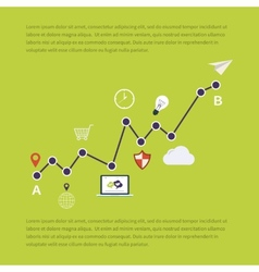 Web analytics information and investment vector image vector image