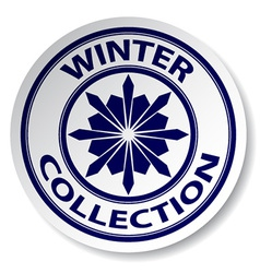 winter collection sticker vector image