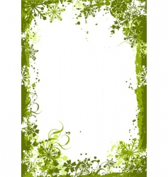 winter grunge floral background vector vector image vector image