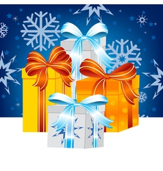 Much gifts to holiday vector image