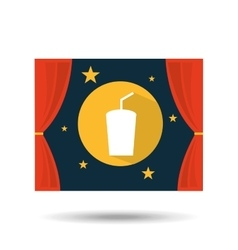 Concept cinema theater drink graphic design vector