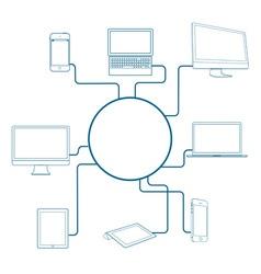 Modern digital devices vector
