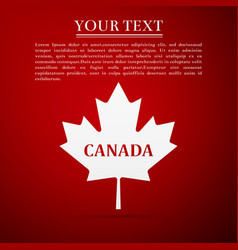 Canadian maple leaf with city name canada vector