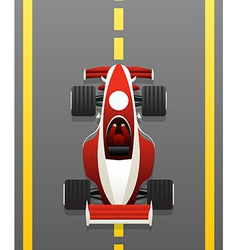 Red racing car vector