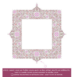Square flower decorative ornaments - lilac vector
