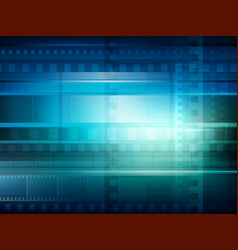 Old movie background blue toning vector