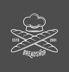 Vintage retro bakery logo badge and label vector