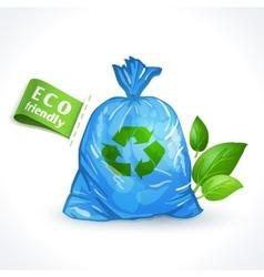 Ecology symbol plastic bag vector image