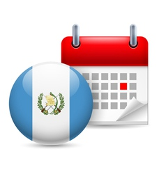 Icon of national day in guatemala vector