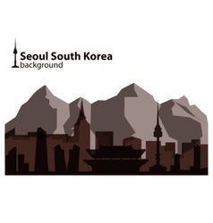Seoul south korea skyline vector