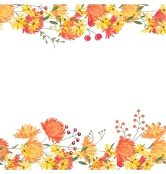 Detailed contour square frame with gerbera and vector