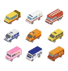 Isometric public city transport vector