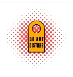Label do not disturb comics icon vector