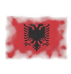 Albania flag halftone vector
