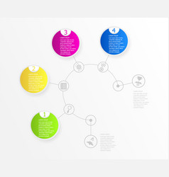 abstract circle timeline infographic background vector image vector image