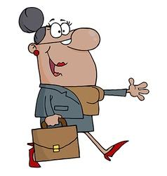 African American Businesswoman Walking vector image vector image