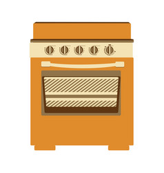 Aged silhouette of stove with oven vector