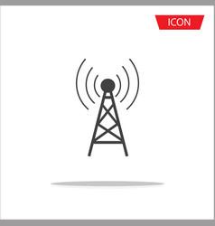 antenna icon symbols on white background vector image vector image