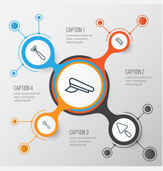 Apparatus icons set collection of spatula vector