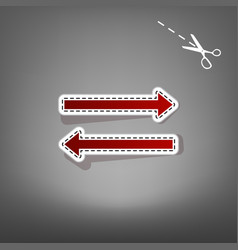 Arrow simple sign red icon with for vector