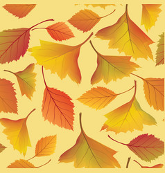 Autumn leaves background floral seamless pattern vector