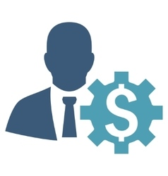 Banker options flat icon vector