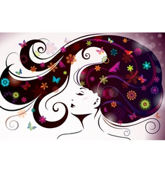 beautiful style woman vector image vector image
