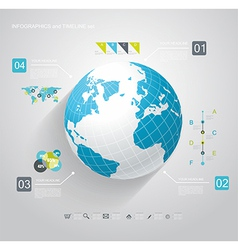 Blue Globe and business strategy vector image vector image