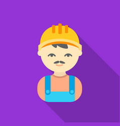 Builder flat icon for web and mobile vector
