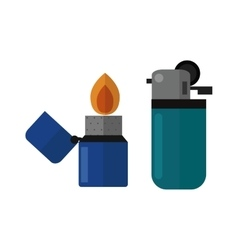 burning lighters vector image vector image