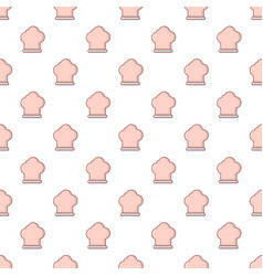 Chef hat pattern seamless vector