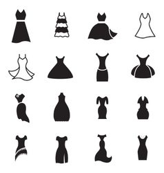 Dress Icon Set vector image
