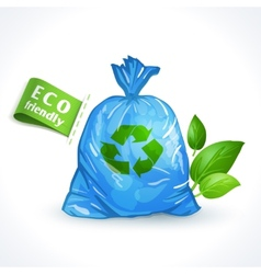 Ecology symbol plastic bag vector image vector image