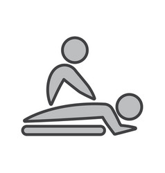Flat color massage icon vector