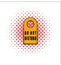 Label do not disturb comics icon vector