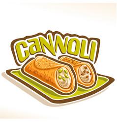 Logo for sicilian cannoli vector