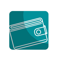 Logotype wallet to save money vector