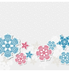 new year background with snowflakes vector image vector image