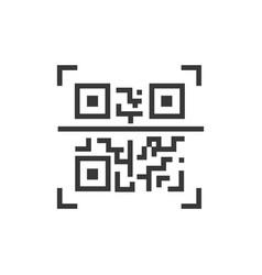 Qr code - line design single isolated icon vector