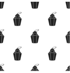Ramadan lamp icon in black style isolated on white vector