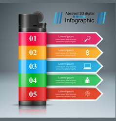 Realistic lighter - business infographic and vector