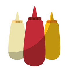 Sauce plastic bottles vector