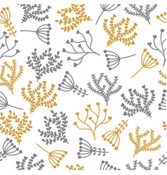 seamless floral pattern cute background vector image vector image