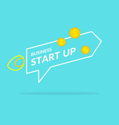 start up in flat style income and success vector image