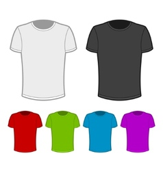T-shirt in various colors - 2 vector image vector image