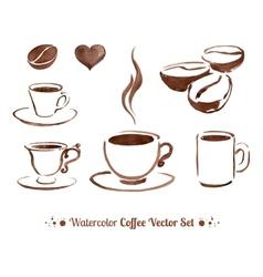 Watercolor coffee vector