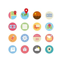 Web icons 14 vector image vector image