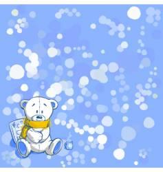 wintertime bear vector image vector image